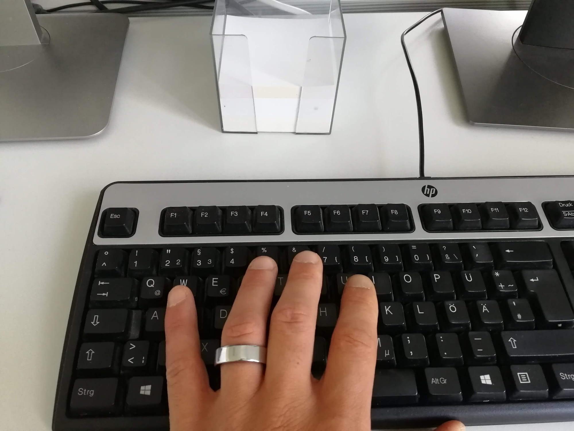 Oura Ring Büro