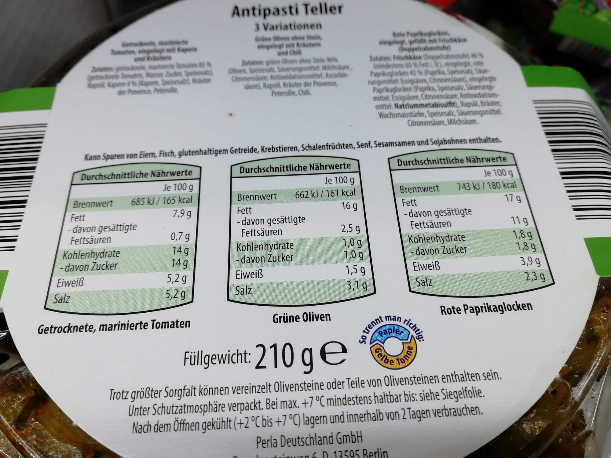 Keto-Snack-Aldi-Antipasti-Teller-Nährwerte