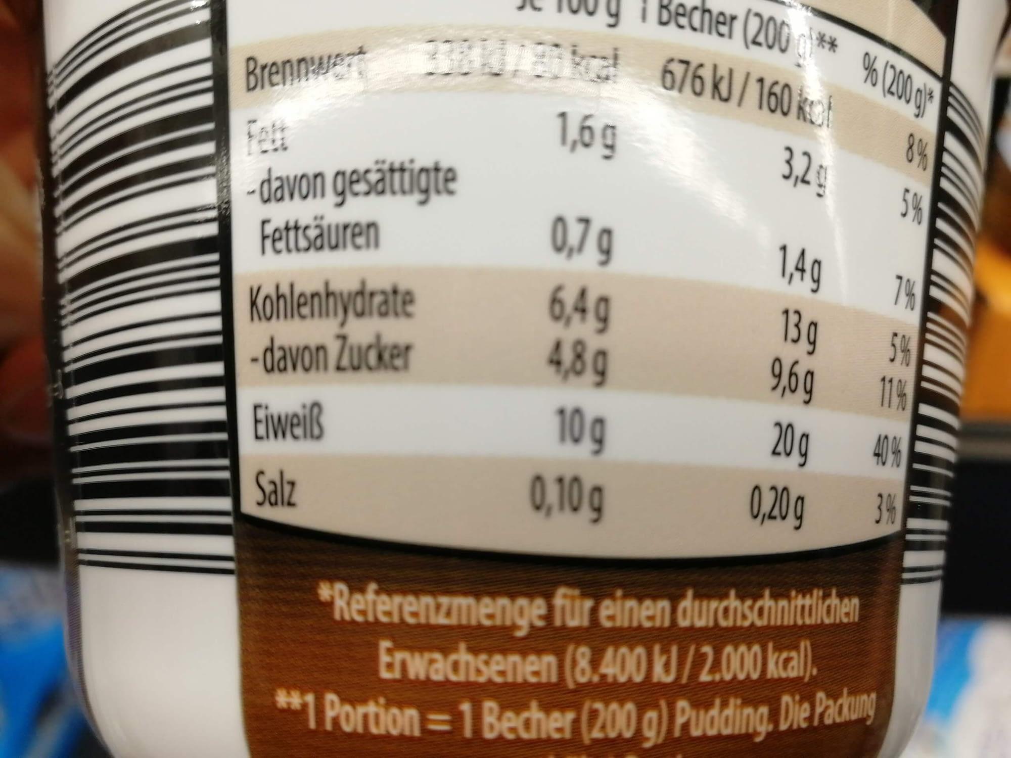 Keto-Snack-Aldi-Protein-Pudding-Nährwerte