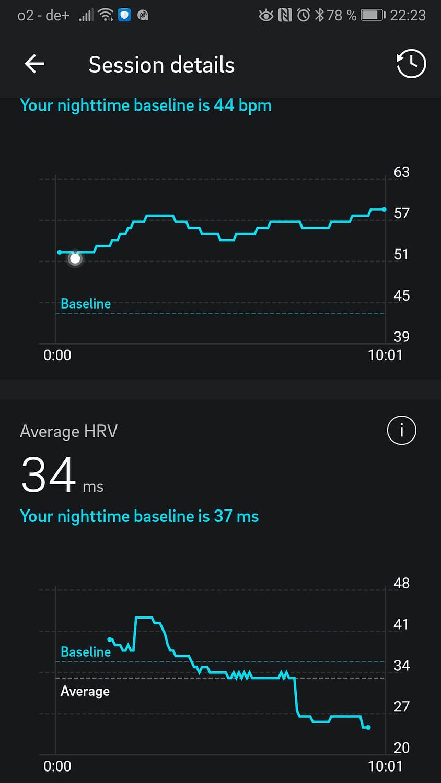 Oura Ring App Meditation HRV Herzratenvariabilität