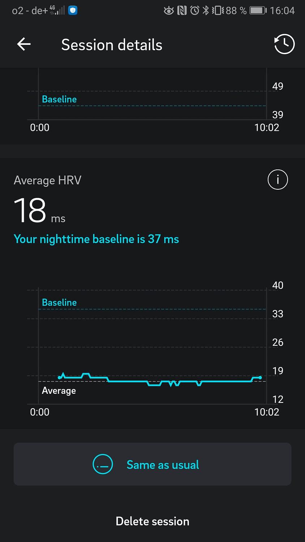 Oura Ring App Meditation HRV Herzfrequenzvariabilität