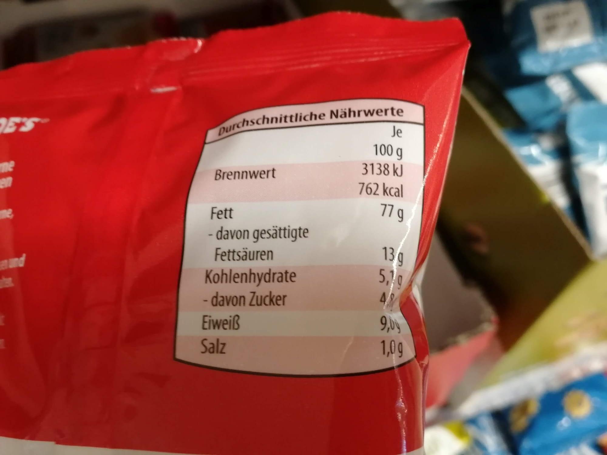Keto-Snack-Aldi-Macadamia-Nährwerte