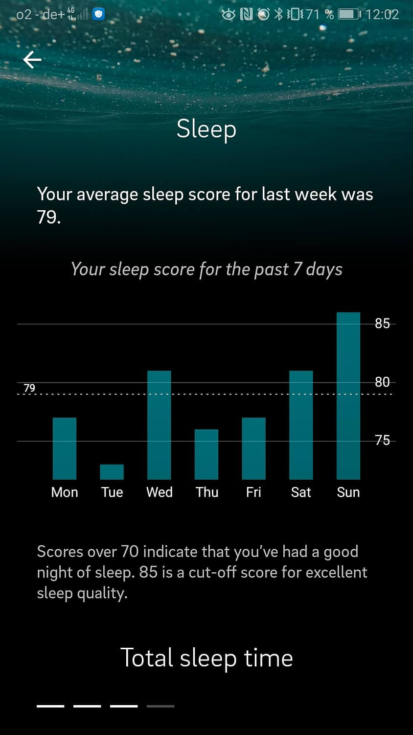 Oura-Ring-App-Sleep-Score-Auswertung