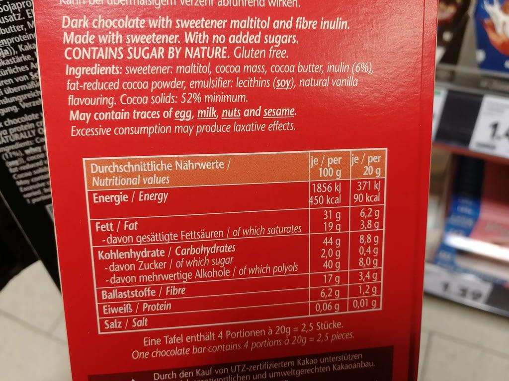 Keto-Snacks Kaufland Schokolade Frankonia